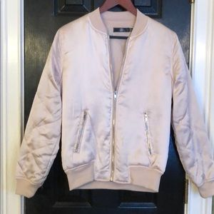 Pink puffy bomber from missguided size 0